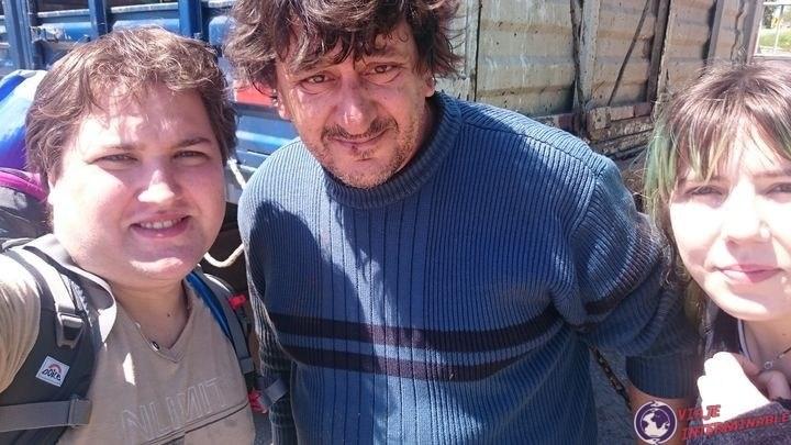 Javier, el camionero que nos llevo de Playa Pascual a Rosario
