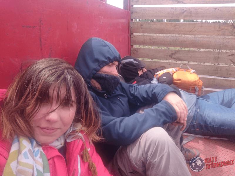 Camino a Talca como inmigrantes ilegales