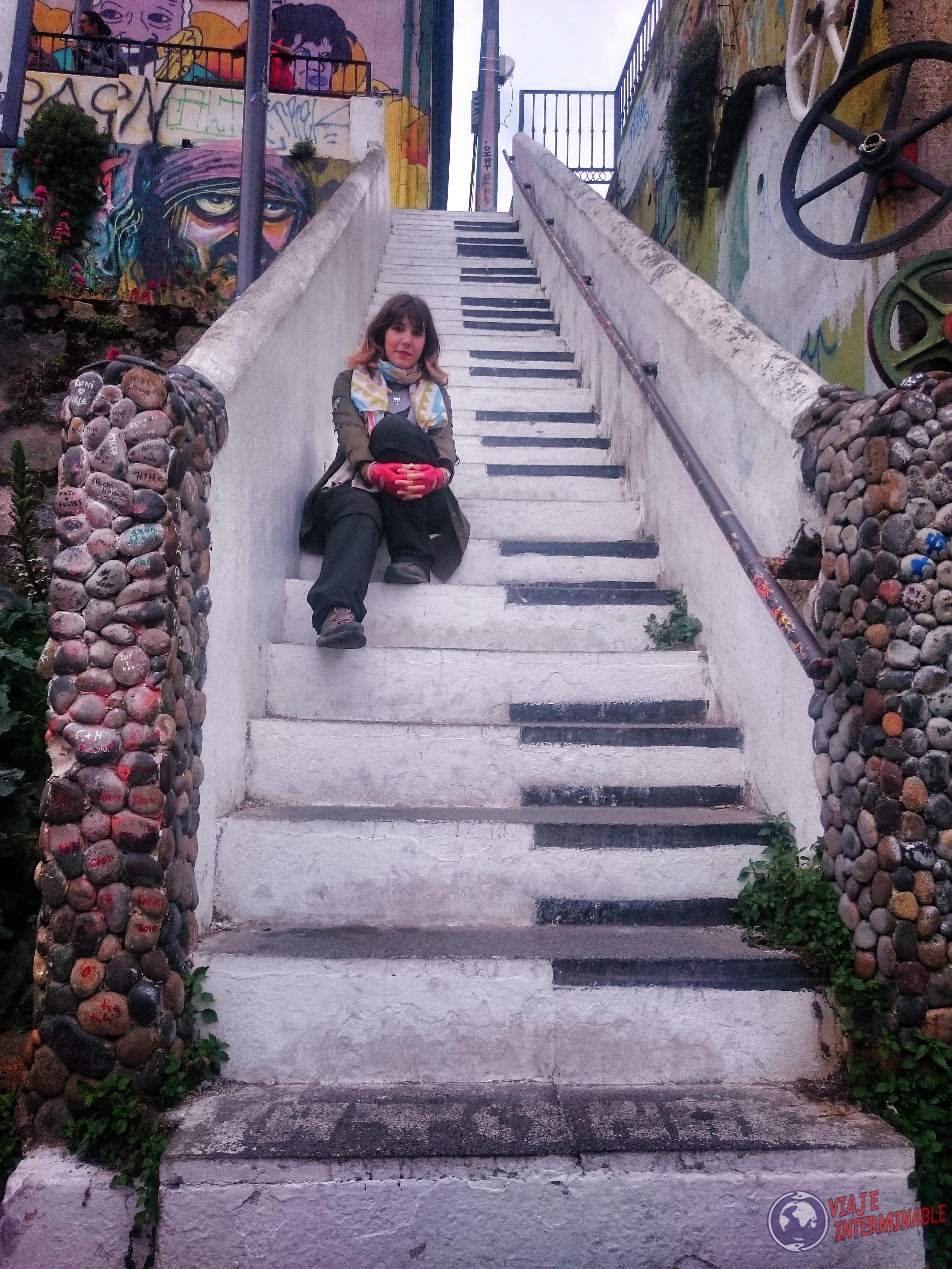 Foto Mural Valparaiso Escalera Piano