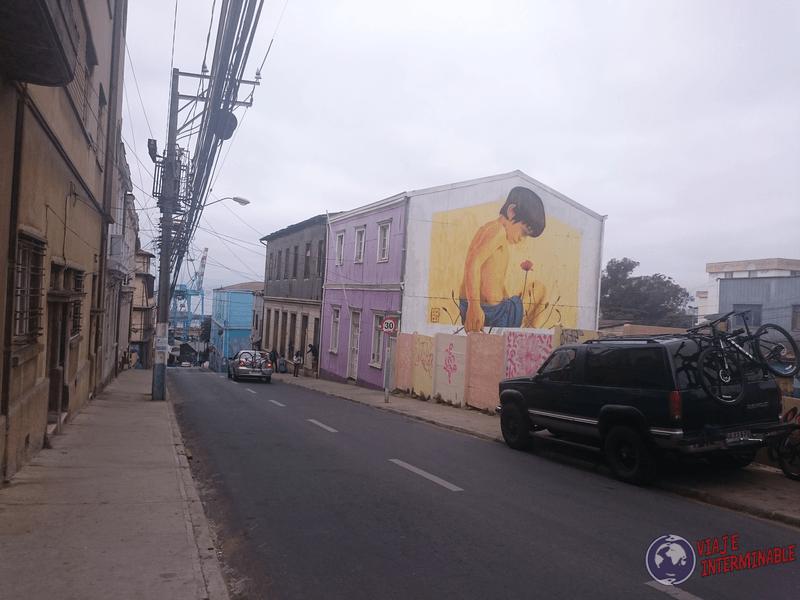 Foto Mural Valparaiso Niño Reja