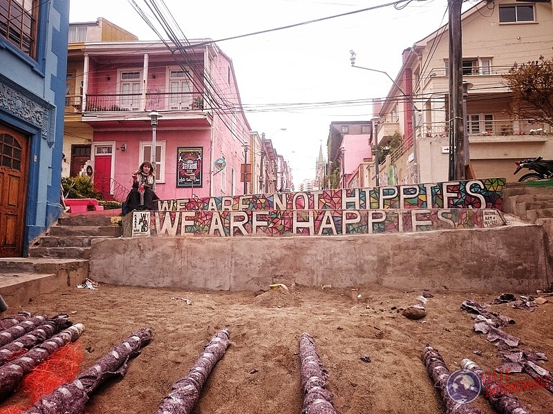 Foto Mural Valparaiso We Are Not Hippies