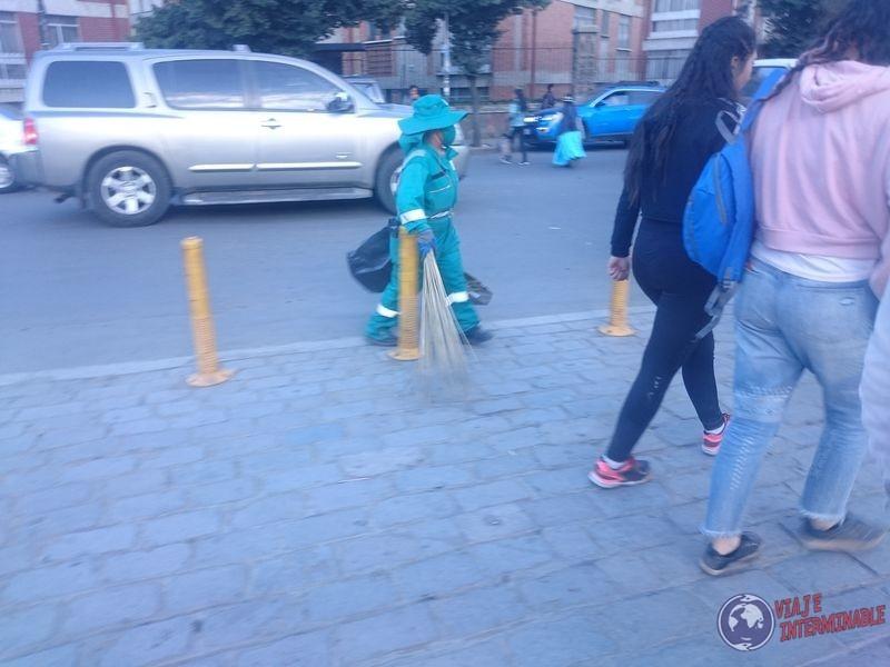 Barrenderos en La Paz
