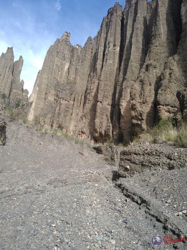 Caminando entre los picos del monte de las animas