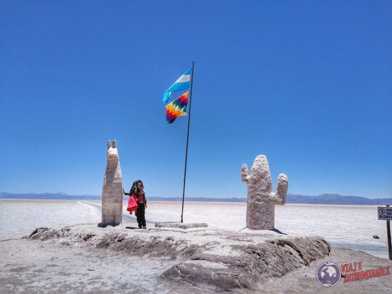 Estatua llama en salinas grandes Jujuy