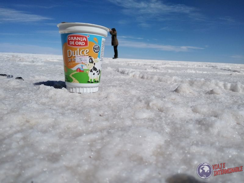 Fotos divertidas en Uyuni tarro dulce de leche
