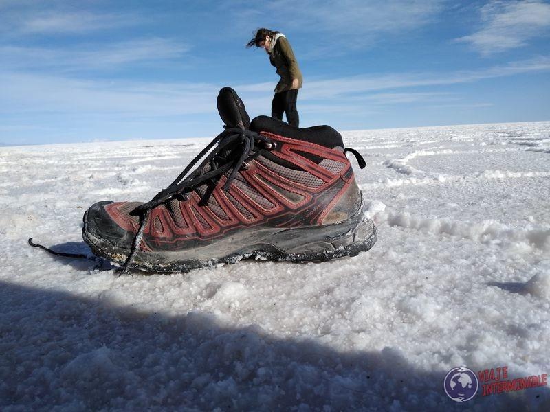 Fotos divertidos en Uyuni zapato