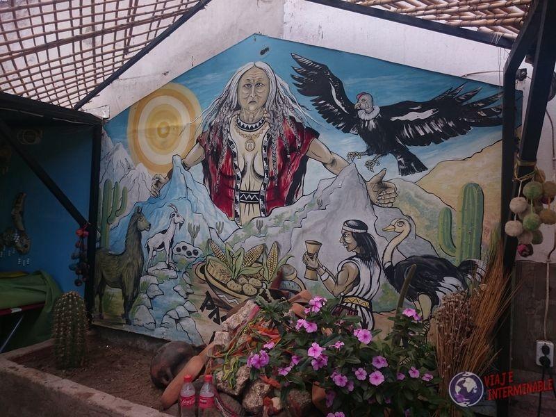 La Pachamama mural Cafayate