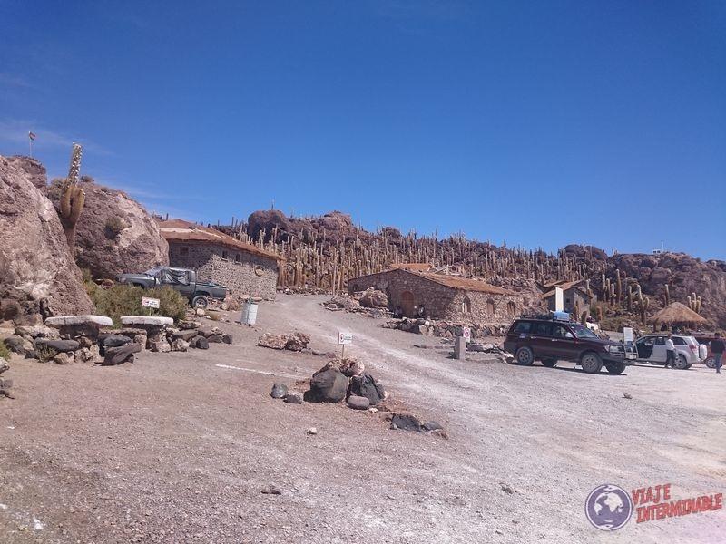 Parte turistica de isla Incahuasi Uyuni
