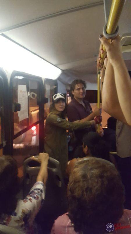 Viajando en bus local trujillo