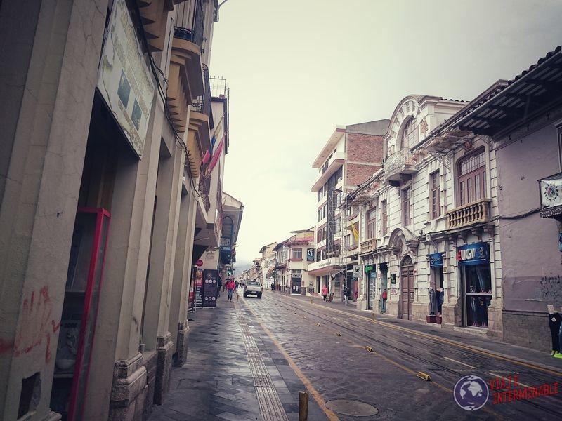 Calles coloniales en Cuenca Ecuador