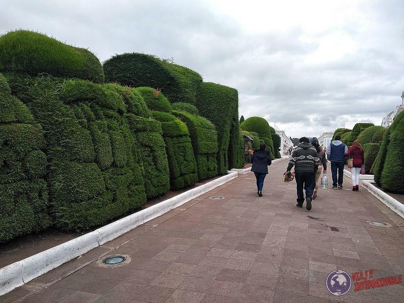 Entrada al cementerio de Tulcan Ecuador