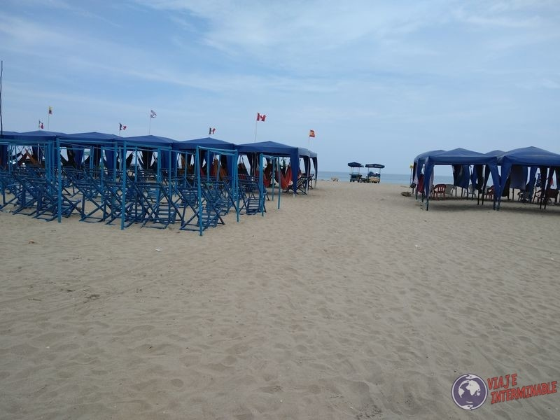 Playa san Mateo cerca de Manta Ecuador