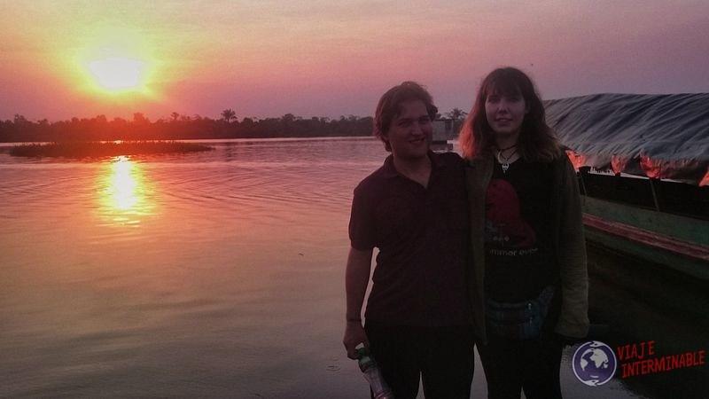 Atardecer en santa Clara Iquitos Peru