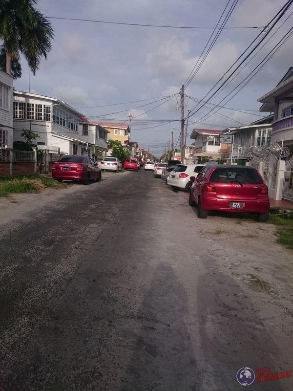 Calles sin veredas Georgetown guyana