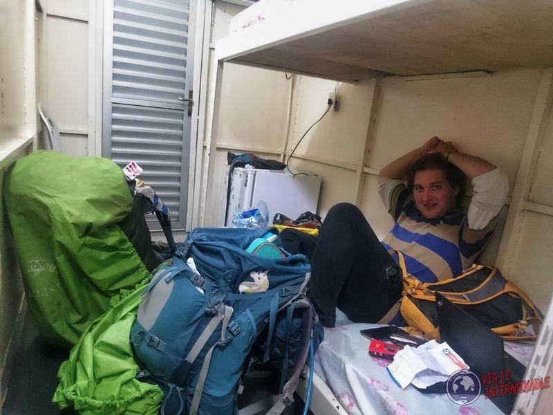 Camarote dentro barco carga Tabatinga Manaos Brasil