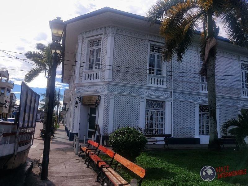 Casa que quedo por la fiebre del caucho Iquitos Peru