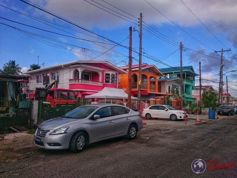 Casas coloridas de Georgetown Guyana