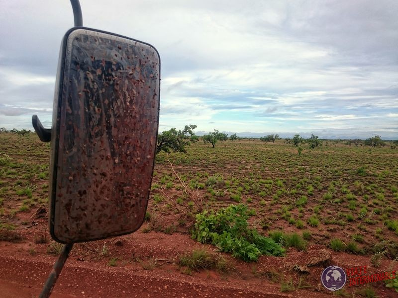 Guyana espejo retrovisor ruta
