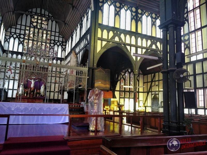 Iglesia saint george por dentro Georgetown Guyana