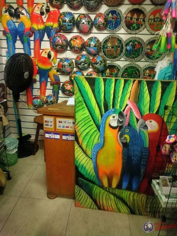 Mercado artesanias manaos brasil