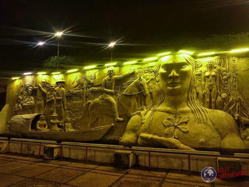 Mural de los pioneros Boa Vista