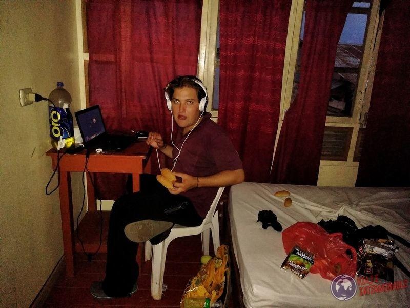 Nuestra cena en Hotel santa clara Peru