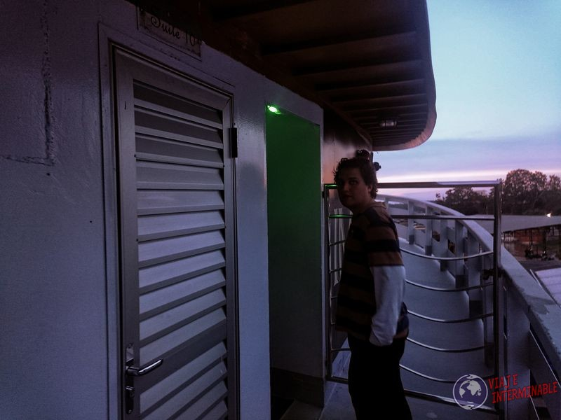 Puerta camarote Rei Davi barco Tabatinga Manaos Brasil