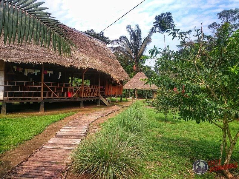 Refugio en reserva Paspanchu Waorani Pompeya Ecuador