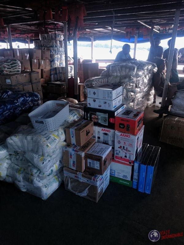 Rei Davi barco de carga Tabatinga Brasil