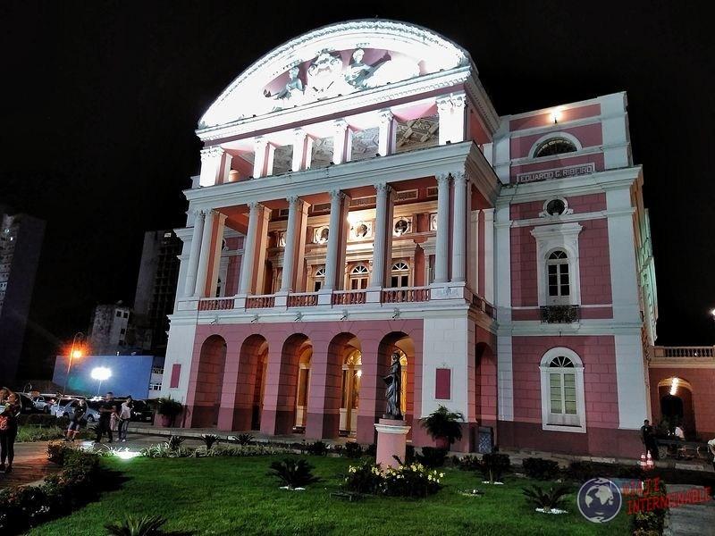 Teatro amazonas frente Manaos Brasil