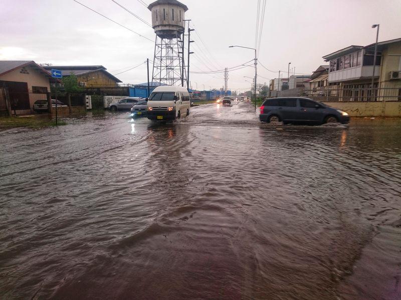 Lluvia en Paramaribo Surinam