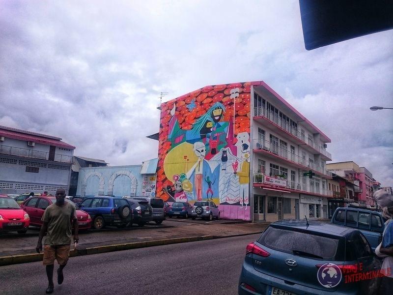 Mural en Cayenne Guayana Francesa