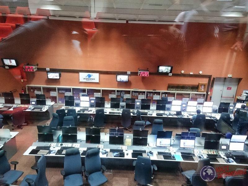 Sala control de frente centro espacial kourou Guayana Francesa
