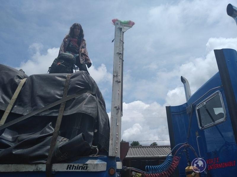 Arriba del camion rumbo a Chigorodo