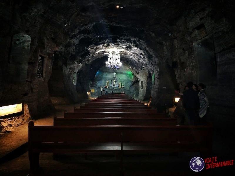 Catedral de sal Zipaquira Colombia altar