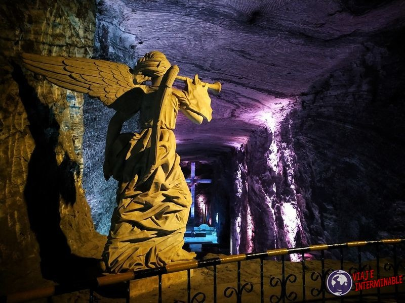 Catedral de sal Zipaquira Colombia angel