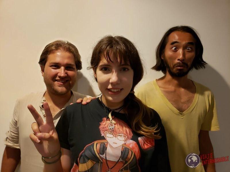 Con japones en Medellin Colombia
