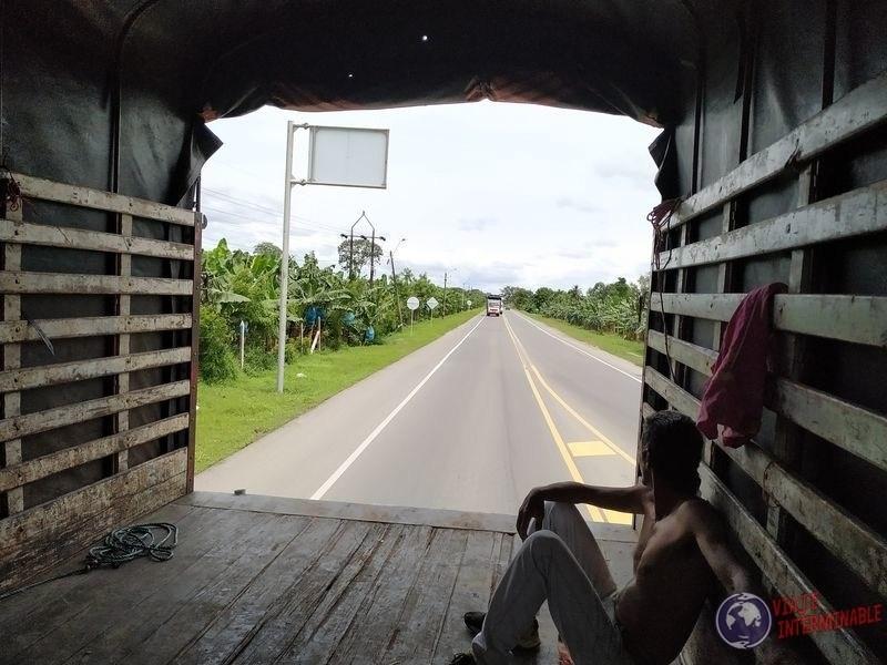 Dentro del camion hacia Monteria Colombia