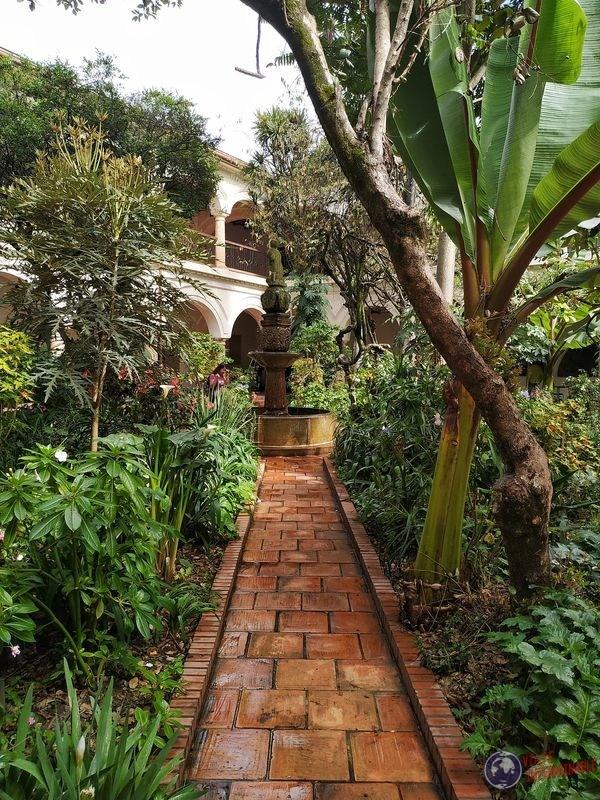 Jardin del Museo colonial Bogota