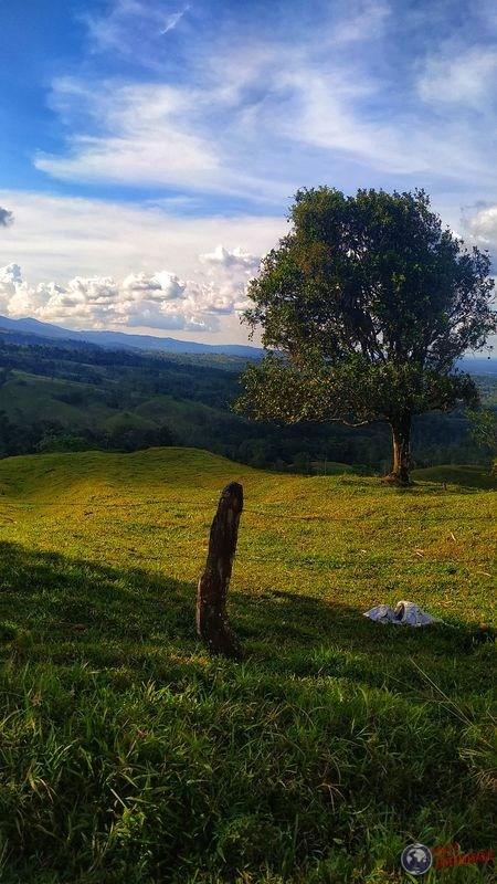 Paisaje valla cerca arenal Costa Rica
