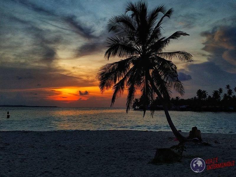 atardecer playa san blas playa caribe panama