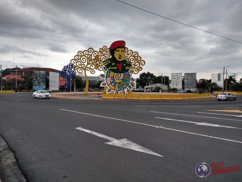 Avenida Bolivar Hugo Chavez Managua Nicaragua