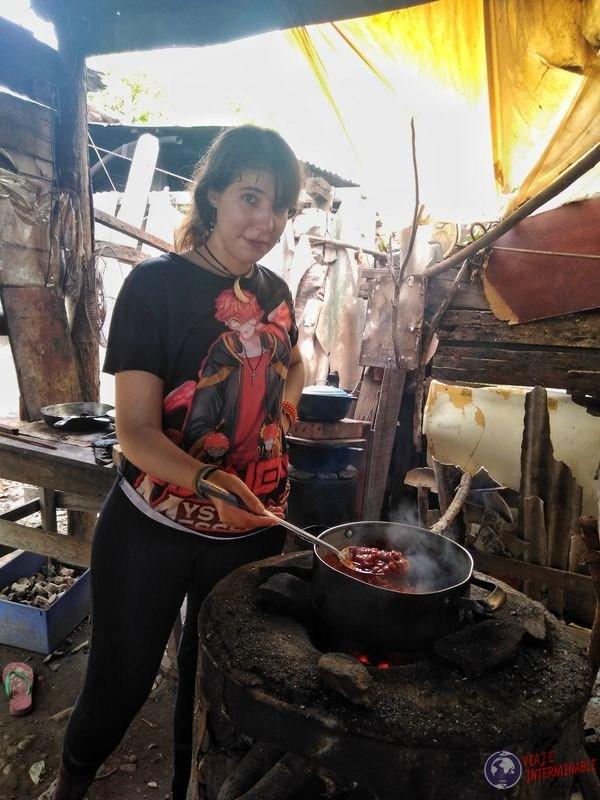 Cocinando en Choluteca Honduras
