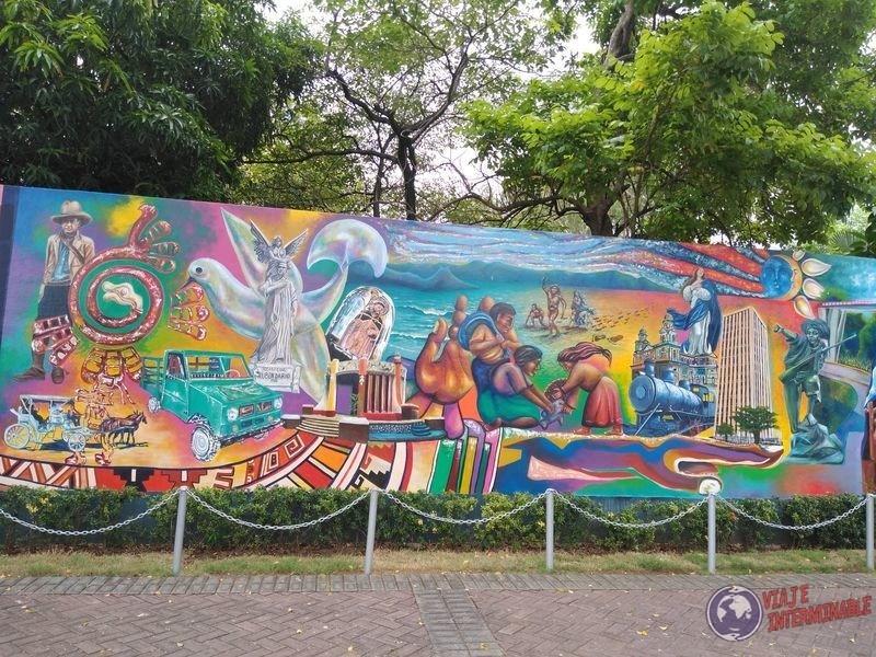 Mural colores Managua Nicaragua