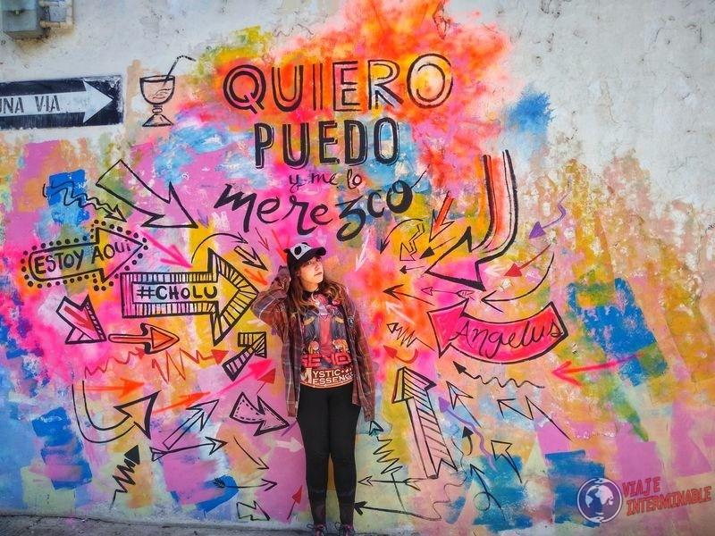 Quiero puedo merezco grafiti Choluteca honduras