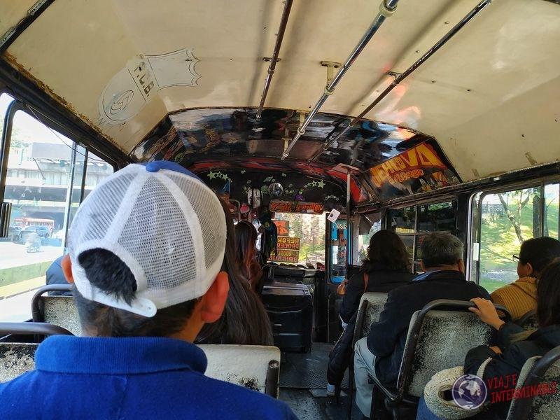 Bus en Ciudad de Guatemala