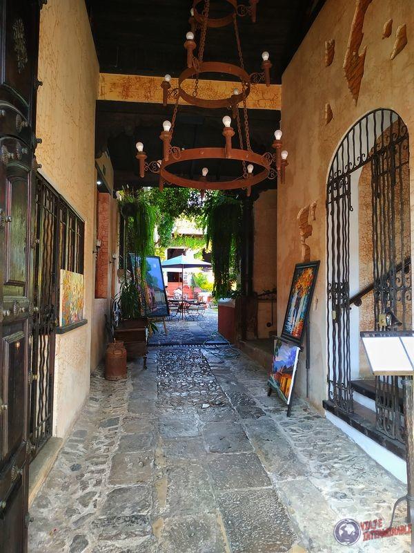 Café hotel interior Antigua Guatemala