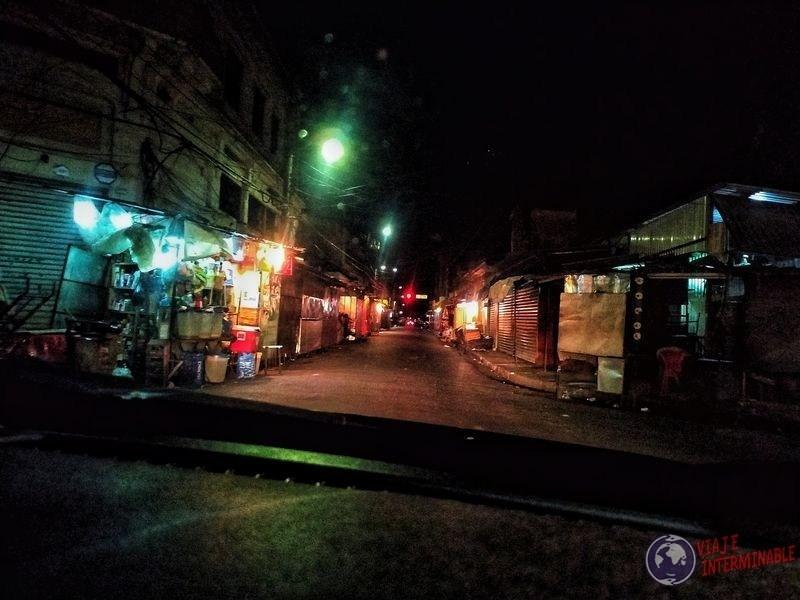 Calles oscuras de San Salvador