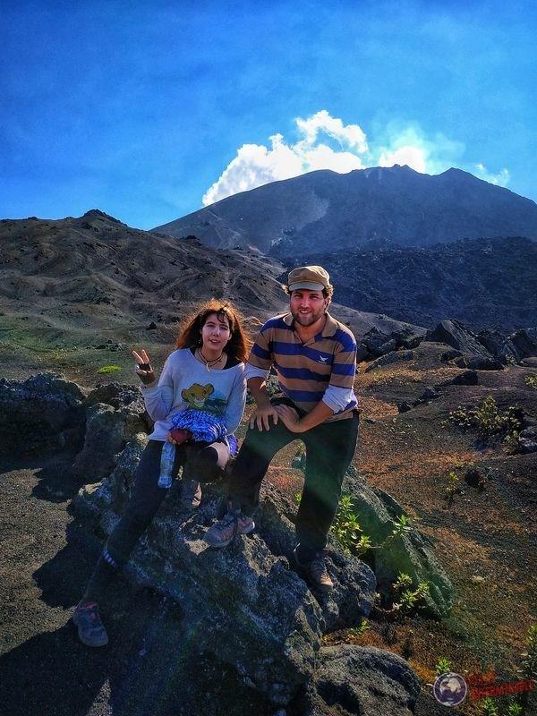 En volcán Pacaya de Guatemala