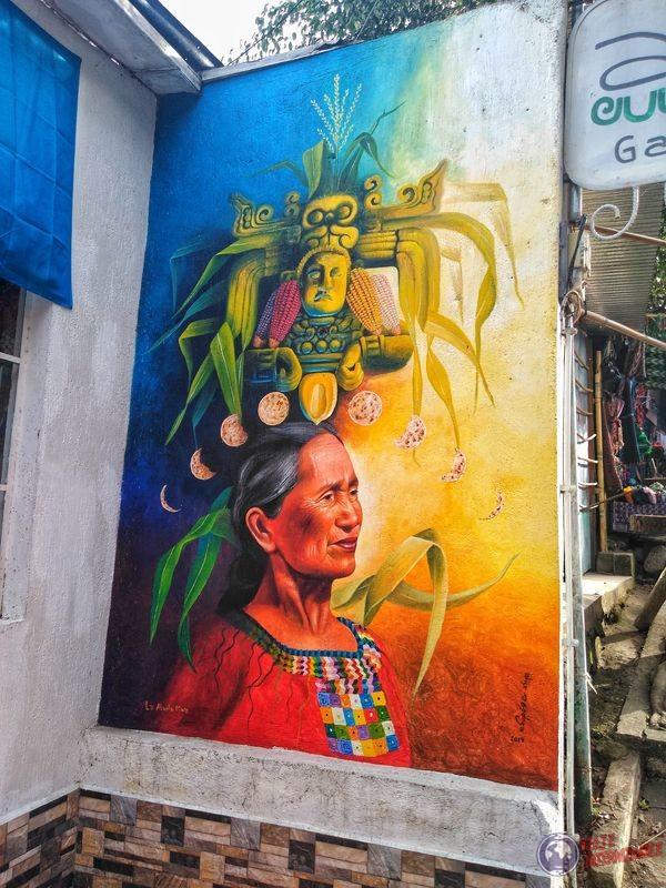 Grafiti en redes de San Juan La Laguna Atitlan Guatemala